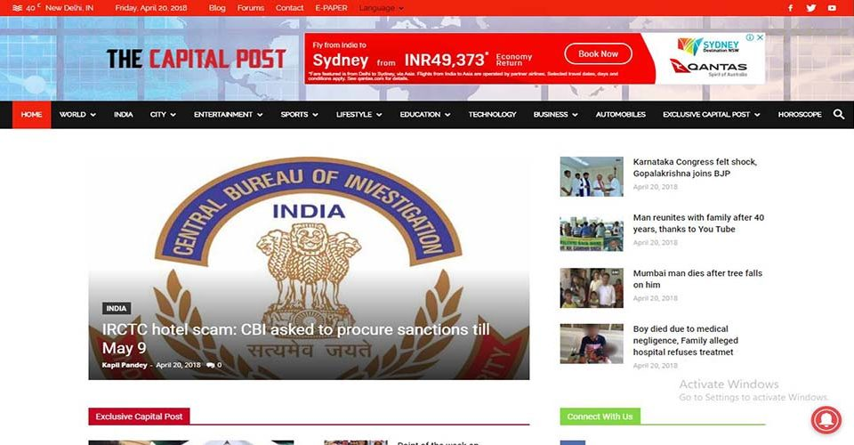 news website designing Company